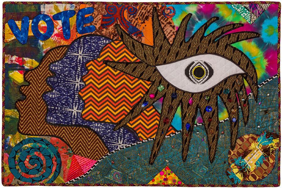 mixed media art quilt by Cynthia Lockhart