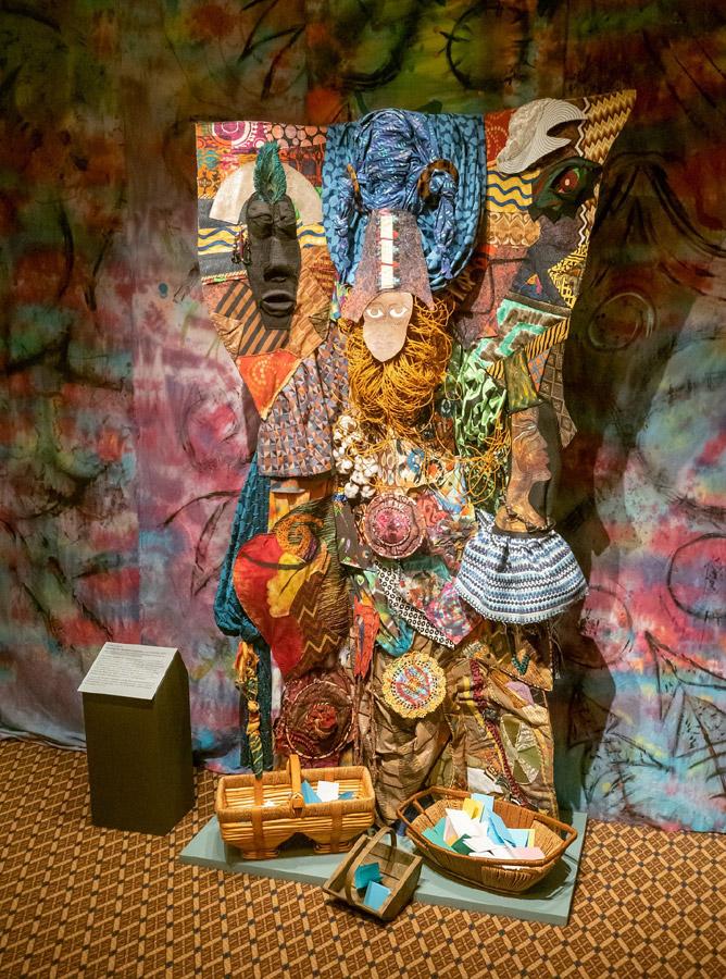 fiber art installation art honoring African heritage