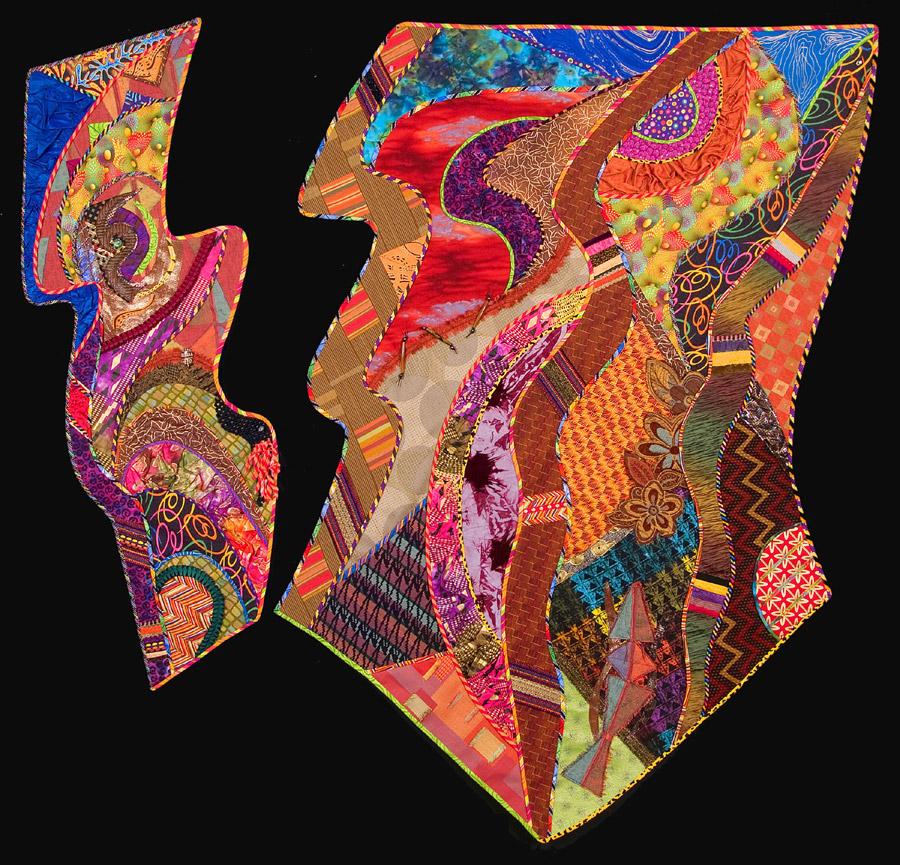 abstract fiber art